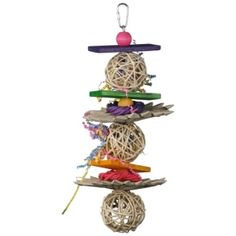 Crunch & Munch The Crunch and Munch bird toy consists of three open design munch balls separated by palm flowers, vine rings, wood beads an. Diy Chinchilla Toys, Cat Toys, Toy Castle, Parrot Toys, Conure, Puzzle Toys, Bird Toys, Wood Slats, Pet Birds
