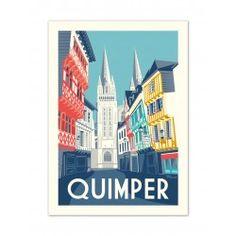 """Affiche Quimper """" Rue Kéréon """""""