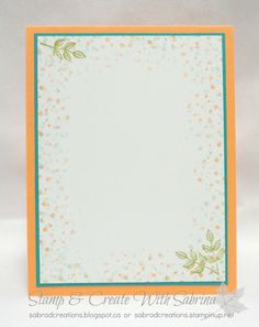 Yesterday I shared with a card made with the Avant Garden stamp from the Sale-A-Bration brochure. Today I have another card to share using...