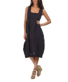 Love this Navy Blue Square Neck Midi Dress on #zulily! #zulilyfinds