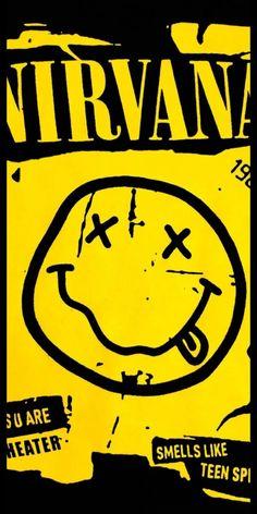 Iphone Wallpaper Pinterest, Cute Backgrounds, Nirvana, Rock Music, Rock And Roll, Teen, Kurt Cobain, Punk, Wallpapers