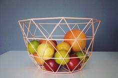 Briefkästen - Geometrischer Metallkorb Nordic Style peach - ein Designerstück von LikeLife bei DaWanda