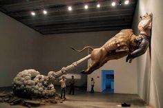 Bull Fart Sculpture,