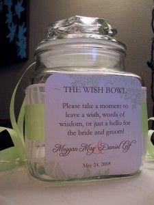 wish bowl... cute idea
