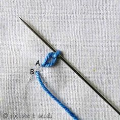 braided chain stitch » Sarah's Hand Embroidery Tutorials