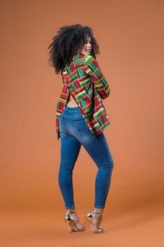 African Print Fakko Top