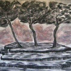 Χειροποίητος πίνακας ζωγραφικής σε τελαρωμένο καμβά, 100x70, παστέλ. Επισκεφτείτε την ιστοσελίδα www.viewofart.gr Handmade painting on stretching canvas, 100x70, pastel. Visit our site www.viewofart.gr