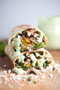 Lower Carb Lavash Fajita Burrito