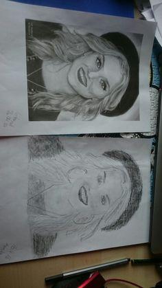 Perrie Edwards Links Kopie, rechts gezeichnet