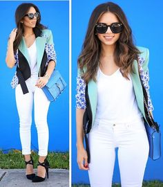 Get this look: http://lb.nu/look/5996325  More looks by Daniela Ramirez: http://lb.nu/nanysklozet  Items in this look:  Adriano Goldschmied Jeans, Peter Pilotto Jacket, Rebecca Minkoff Bag