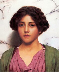John William Godward「A Classical Beauty」(1909)