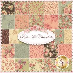 Roses & Chocolate By Sentimental Studios For Moda Fabrics - Expected Arrival Date Is October 2014