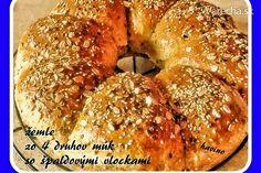 Žemle zo 4 druhov múk, pečené v remoske (fotorecept) 20 Min, Bagel, Bread, Food, Brot, Essen, Baking, Meals, Breads