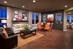 New Homes in Thornton, CO - The Estates at Trailside Moscato 3114 Living and Dining Room