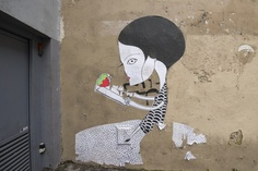 Street art by Fred le Chevalier © Mairie de Paris/François Grunberg