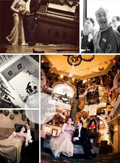 A wedding at the (now removed) Adventurer's Club of Pleasure Island at Walt Disney World