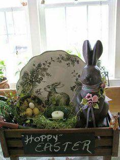 Great Chalkware Vignette!!! Bebe'!!! So cute for Easter!!!