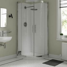 Premier 8mm 800 x 800 Double Door Quadrant Shower Enclosure