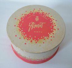 Vtg 'L'Aimant' by Coty Perfumed Dusting powder 5.25 oz Fullish w/ puff   eBay