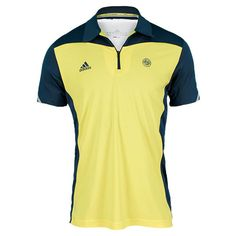 Men`s Roland Garros Tennis Polo Vivid Yellow/Sub Blue