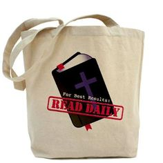 1512 Boulevard Holiday Boutique: Read Bible Daily Tote Bag: Holy Bible with Christian cross says for best results read daily with Bible verses Joshua and Acts Spread the good news of Christianity, the gospel, and Jesus. Bible Bag, Holiday Boutique, Peace Dove, Weimaraner, Medium Bags, Canvas Fabric, Evening Bags, Gnomes, Bag Making