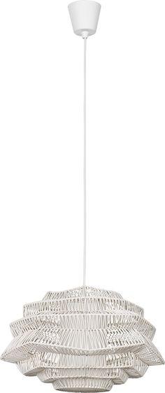 PRESCOT ratanový luster biely 5108