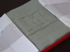 IMG_3014 by everyday_knits, via Flickr ravelry: Personalized baby blanket