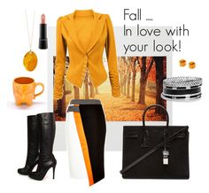 """""""Fall.. in love with your look"""" by diamonddare on Polyvore featuring Christian Louboutin, River Island, Yves Saint Laurent, MAC Cosmetics, Food Network and GUESS"""