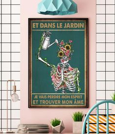 Skeleton et dans le jardin je vais perdre mon esprit poster canvas wall Halloween Wall Decor, Halloween Gifts, Canvas Wall Decor, Canvas Art, Orange Maine Coon, Ginger Boy, Good Traits, My Dad Says, Small Kittens