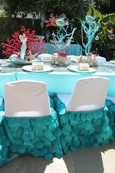 Image Result For How To Make A Tulle Mermaid Tail Table Decoration
