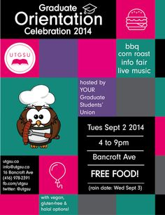 Orientation Celebration 2014 is just around the corner! #utgsuBBQ14 #UofT