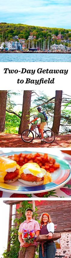 Looking out at the Apostle Islands, one of the region's most attractive small towns makes a great base for walking, biking and sailing as well as touring the plentiful fruit orchards on Wisconsin's Lake Superior shore: http://www.midwestliving.com/travel/wisconsin/bayfield/two-day-getaway-to-bayfield/