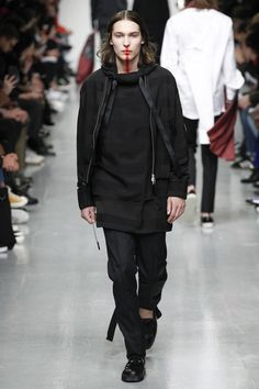 wide tape draw string Matthew Miller Fall 2017 Menswear collection.