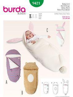 Burda-Schnittmuster für Babyschlafsack