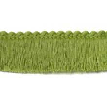 "Duralee Fabric 7303 554 1 1/2"" Fringe Brush Kiwi Pavilion Treasure Island Indoor/Outdoor Trim - USA - H: -, V: - 1.5 inches - My Fabric Connection - Duralee"