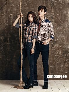 [ENDORSEMENT] Park Shin Hye and Lee Jong Suk for Jambangee's F/W 2013 Campaign