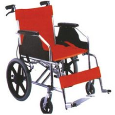 """Karma Healthcare Briz 1-F16 Standard Wheelchair is an attendant wheelchair with 16"""" solid rear wheel and handle brakes. It is very durable and provides maximum comfort and security."""