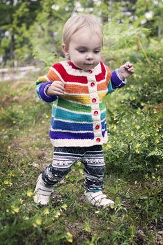 Ravelry: Rainbow Cardigan pattern by Clara Falk, free pattern