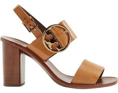 058460f675f Tory Burch Tan Thames Buckle City Slingback Leather Ankle Strap Sandals  Size US 10 Regular (M