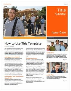 17 awesome high school newsletter templates images newsletter