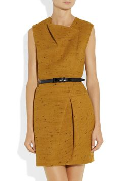 3.1 Phillip Lim Pleated tweed dress in marigold