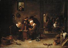 David Teniers - Joueurs de carte et fumeurs