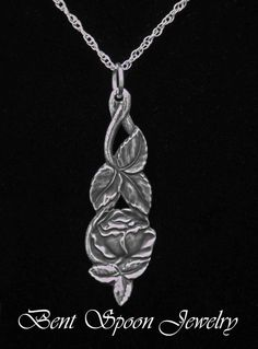 Valentines Day Sterling Silver Spoon Jewelry by Bentspoonjewelry, $49.00