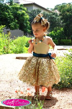 Gold flower girl dress but with a white or black sash instead