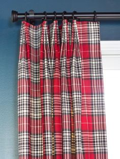 Tailored Drapery Pleats - How to Add Menswear Touches to a Space on HGTV