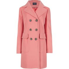 M&S Collection Wool Blend Double Breasted Overcoat (€93) ❤ liked on Polyvore featuring outerwear, coats, jackets, orange, over coat, wool blend overcoat, wool blend coat, wool blend double breasted coat and orange coat