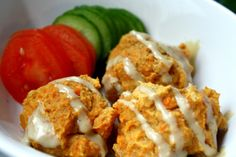 sweet potato falafel - Oh She Glows... Might need to try this next??