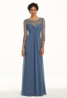 chic Sheath / Column V-neck Natural Ruffles Prom Dress 2014 New Style at Storedress.com
