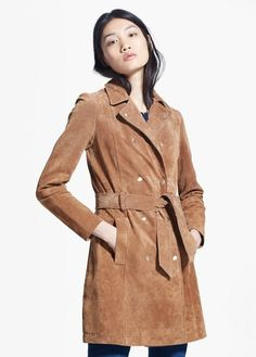 Manteau croûte de cuir | MANGO