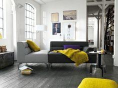 Living room grey yellow